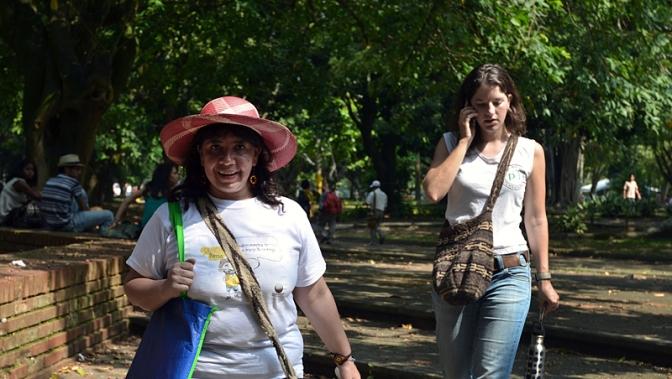 Berenice Celeyta (Nomadesc) and Alice Tabard (PBI). Photo: Julián Montoni
