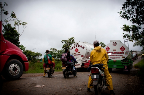 Transitar sin acompañamiento internacional en zonas rurales en el Putumayo sería imposible para Diego y es por esto que PBI viaja con él.